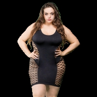 Naughty Girl Ladies Marie Dress Black Q/S