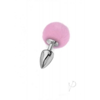 Iris Medium Silver Plug with Pink Pom Pom
