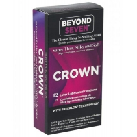 Crown Super Thin Sensitive Latex Condoms 12 Pack