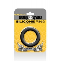 Boneyard Silicone Cock Ring 2 inches Black