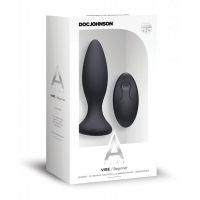 A-Play Vibe Beginner Anal Plug With Remote Control Black