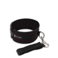 Lux Fetish Collar And Leash Set Black