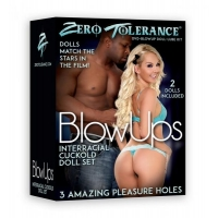 Blow Ups Cuckold Dolls Black Male, White Female