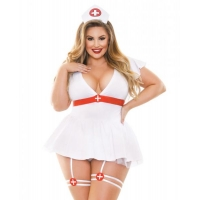 Bedside Nurse Costume 3 Piece Set 3X/4X