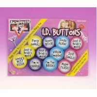 Bachelorette Id Buttons Set