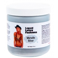 Liquid Latex Body Paint Metallic Silver 16oz