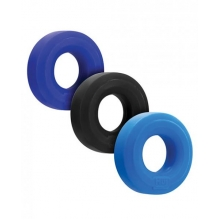 Hunkyjunk Huj C-ring 3pk Blue/ Multi (net)