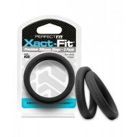 Perfect Fit Xact-Fit #20 2 Pack Cock Rings Black