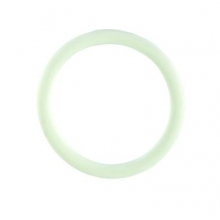 White Rubber Cock Ring - Large