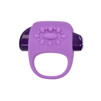 Key Halo Silicone Vibrating Ring Waterproof - Purple