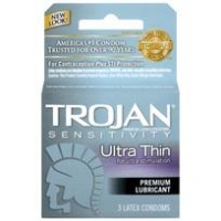 Trojan Condoms Sensitive Ultra Thin Lubricated 3 Pack